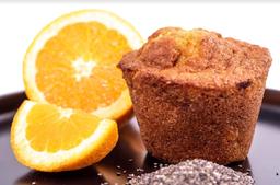 Muffin naranja chía.