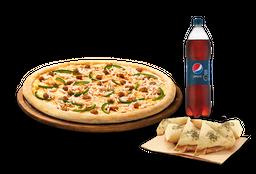🍕Arma tu pizza (Mediana) + Bebida 1.5 Lts + Complemento