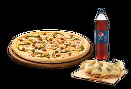 🍕Arma tu pizza (Mediana) + Bebida 1,5 Lts + Complemento