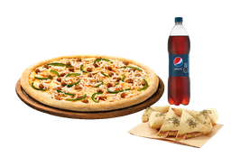🍕Arma tu pizza (Familiar) + Bebida 3 Lts + Complemento