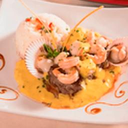Filete Salsa Camarones Ostiones