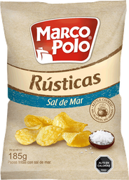 Papas Fritas Marco Polo Rusticas Sal de Mar 185 g