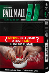 Cigarro Pall Mall Click On Mentol Boost 20 unid
