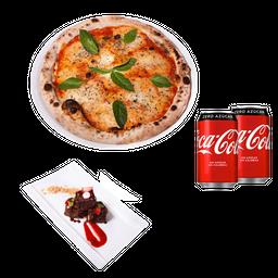 1 Pizza + 1 Postre + 2 Bebidas 350 cc
