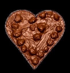 Corazon de chocolate leche avellanas - 150 g