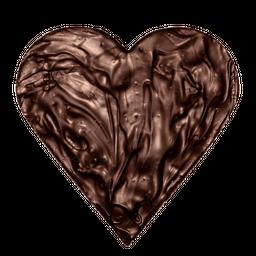 Corazon de chocolate bitter almendras - 150 g