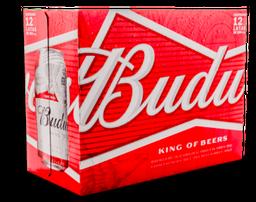 Cerveza Budweiser x12 Und Lata 355mL/u