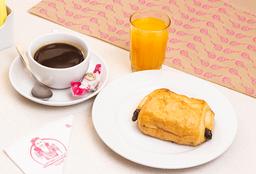 Croissant o Pain au Chocolat + Café + Jugo Natural