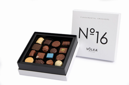 Chokolade Mix De 16 Bombones Cuadrada Blanca