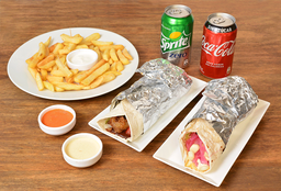 Promo 2 Shawarma + Picoteo + 2 Bebidas