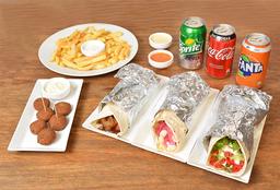 Promo 3 Shawarma  + 2 Picoteo + 3 Bebidas