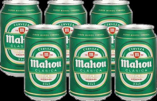 Cerveza Mahou Sixpack Lata 330cc
