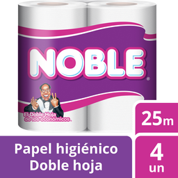Papel Higienico Noble Dh 25Mt 4Un