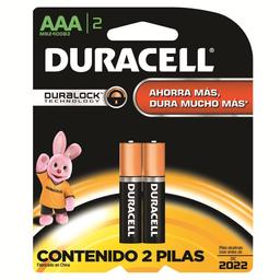 Pila Duracell Alcalina AAA 2 U