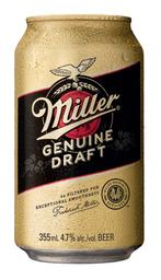 Cerveza Miller Genuine Draft Lata 355ml