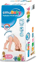 Pañales Premium Emubaby G 40 Un