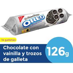 Galleta Oreo De Chocolate Relleno De Cookies And Cream 14Un 126g