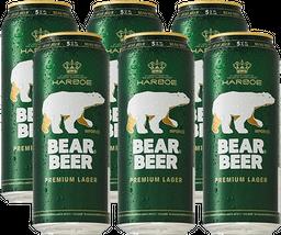 Cerveza Bear Beer 6Pack Lata 500cc