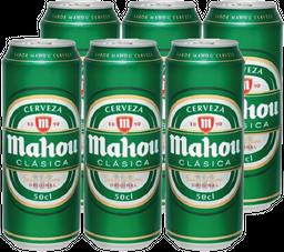 Cerveza Mahou Sixpack Lata 500cc