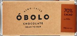 Obolo 70 % Cacao con Nibs 50 gr