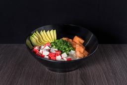 Gohan Salmon Kanikama + Bebida