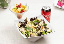 Combo para 2: Ensalada César+ Bebida o Agua + Ensalada de frutas