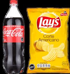 Coca-Cola 1500mL + Papas Lays Corte Americano 250gr