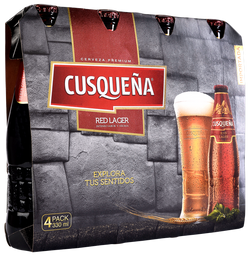 Cusqueña Red Lager 330mL/u x4