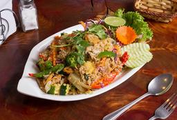 Khao Pad Vegetariano