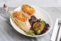 🌮Wrap Vegetariano de Hummus, Quinoa y Verduras