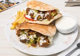 2x1 Shawarma Pitas Vegetariano con Croquetas de Falafel
