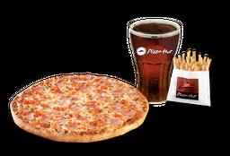 Pizza Italiana Individual + Papas Medianas + Bebida 220 cc