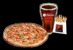 Pizza Española Individual + Papas Medianas + Bebida 220 cc