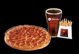 Pizza Pepperoni Individual + Papas Medianas + Bebida 220 cc
