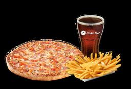 Pizza Italiana Individual + Papas Queso + Bebida 220 cc