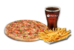 Pizza Individual + Papas Queso + Bebida 350 cc
