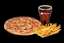 Pizza Española Individual + Papas Queso + Bebida 220 cc