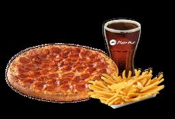 Pizza Pepperoni Individual + Papas Queso + Bebida 220 cc