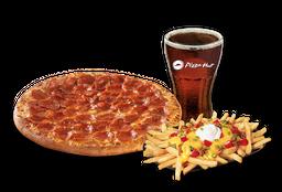 Pizza Pepperoni Individual + Papas Supremas + Bebida 220 cc