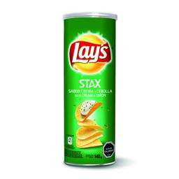 Papas Fritas Lays Stax Crema y Cebolla 140g