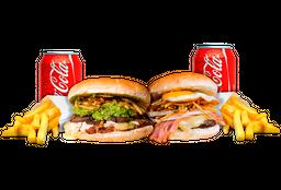 2 Sándwich a Elección + Papas Medianas + Bebida