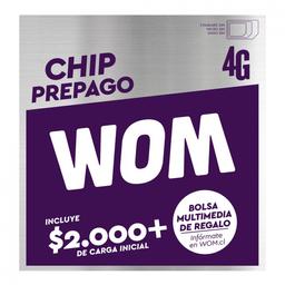 Chip Wom Prepago 4G