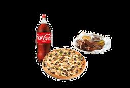 Pizza Mediana, Bebida, BBQ Ribs