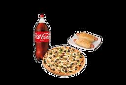 Pizza Mediana Bebida Chaparritas