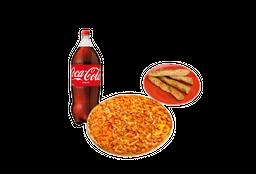 Pizza Mediana Bebida Palitos de Ajo