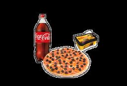 Pizza Mediana Bebida Postre Helado