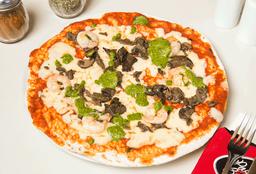Pizza Pesto Gamberetti