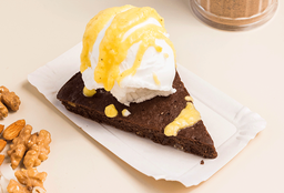 Brownie con Helado Vegan