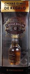 Regalo Chivas Regal 12 años 0,75L + Chivas Extra 50cc