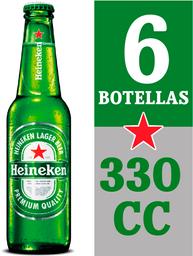Cerveza Heineken 6Pack bot 330cc